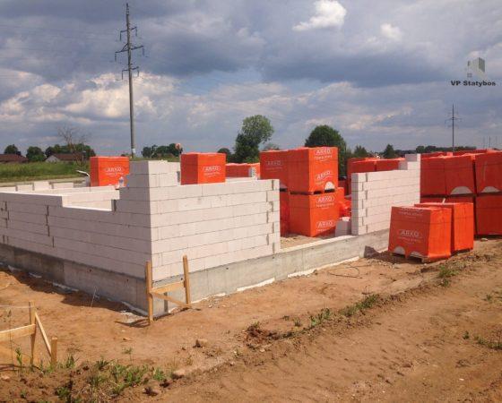 Mūro darbai (Trakų Vokė, Arko blokeliai)