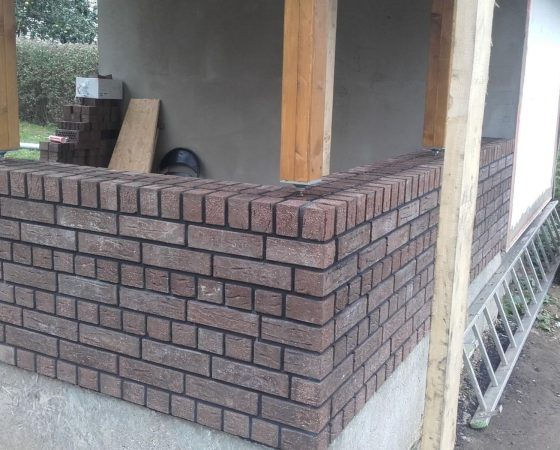 Klinkerinės sienutės mūrijimas